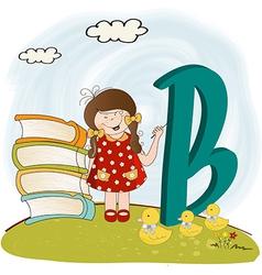 children alphabet letters vector image