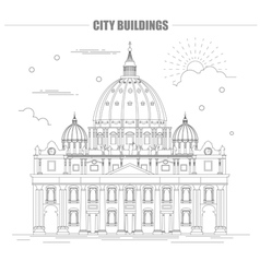City buildings graphic template vector image