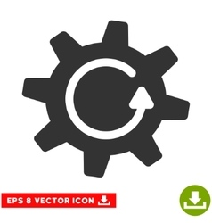 Cogwheel Rotation Direction Eps Icon vector image vector image