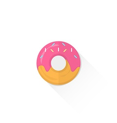 Color confection donut icon vector