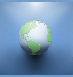 Digital earth image of globe vector
