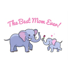 elephant mom flower vector image