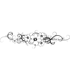 Flower tattoo 3 vector
