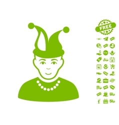 Fool Icon With Free Bonus vector image