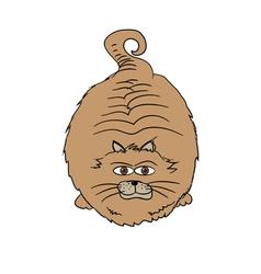 Funny Fat Cat vector image