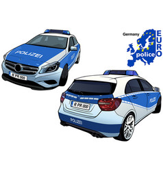 germany police car vector image vector image