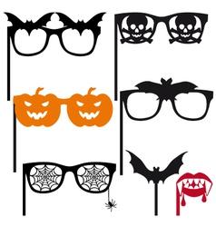 Halloween booth props vector