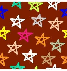 Hand drawn seamless star pattern vector image vector image