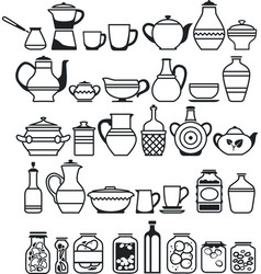 kitchen stuff5 vector image