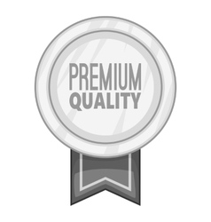 Label round premium quality icon vector