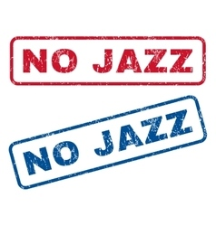 No jazz rubber stamps vector