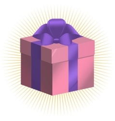 Sample Present box Gift package vector image vector image
