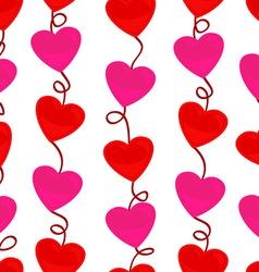 Seamless heart shape pattern vector image vector image