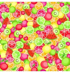 seamless pattern with fruits vector image vector image