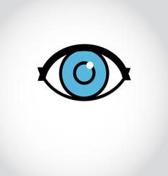 sign eyes vector image