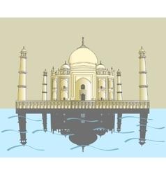 Taj mahal indian palace vector