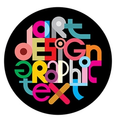 text design on black vector image vector image