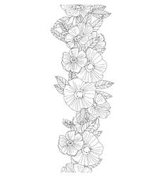 Vertical seamless floral border vector