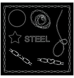 Set of steel chains vector