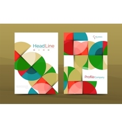 Geometric design business annual report a4 vector