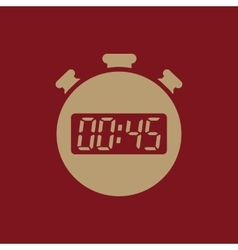 The 45 seconds minutes stopwatch icon clock and vector