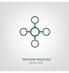 Methane molecule icon vector