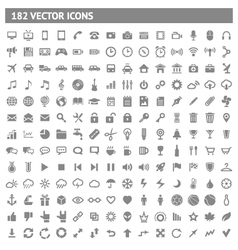 182 icons and pictograms set vector