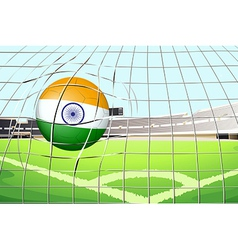 A ball with the flag of india vector