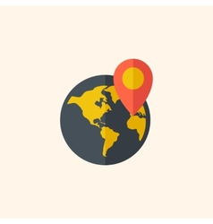 Earth travel flat icon vector