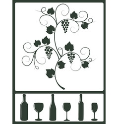 Winery design objects vector