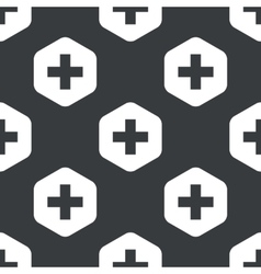 Black hexagon plus pattern vector