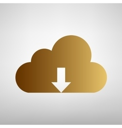 Cloud sign flat style icon vector