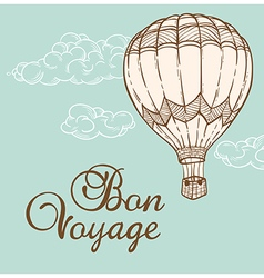 Vintage background with air balloon vector