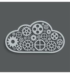 Modern mechanism computing cloud concept vector