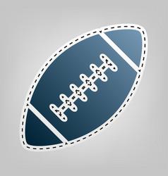 American simple football ball blue icon vector