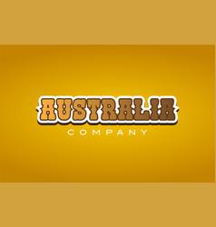 Australia western style word text logo design vector