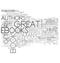 Benefits of e books text word cloud concept vector