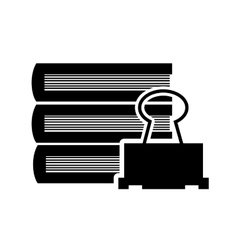 books and clip icon vector image