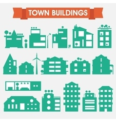 Buildings and houses collection vector