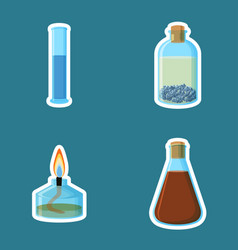 Chemical equipment cylinder with liquid bottle vector