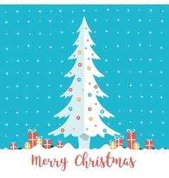 Christmas tree and present boxes vector image vector image