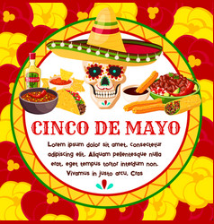 Cinco de mayo mexican celebration greeting vector