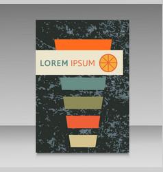 Cocktail design brochure vector