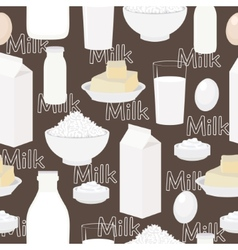 Dairy products seamless background vector