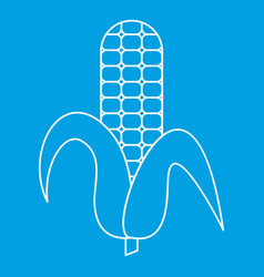 Ear of corn icon outline style vector