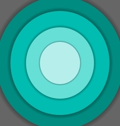 Green circle material design background vector