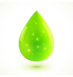 Green liquid isolated drop vector image