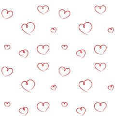 Hand drawn hearts seamless pattern vector