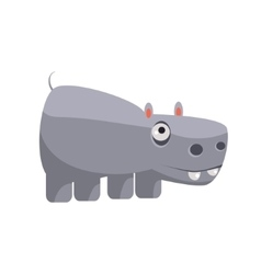 Hippo Funny vector image vector image