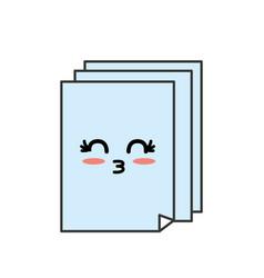Kawaii cute tender documents presentation vector